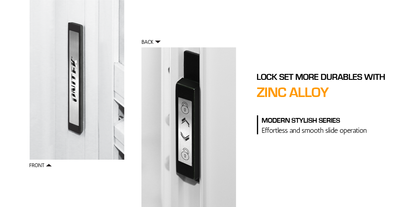 LOCKSET SET MORE DURABLES WITH ZINC ALLOY
